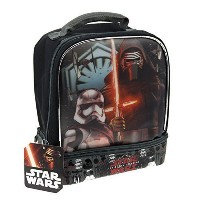 Star Wars The Force Awakens Kylo Ren The Dark Side Kids Insulated 2-Section Padded Lunch Bags...