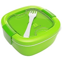 Bentgo Salad (Green) - Conveniently Take Salads and Other Snacks On-the-go Eco-Friendly & BPA-Free...