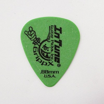 In Tune Guitar Picks DGP1-C88 GrippX-X 0.88mm Green ピック×12枚