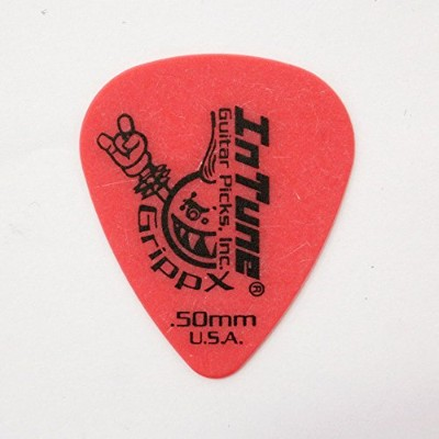 In Tune Guitar Picks DGP1-C50 GrippX-X 0.50mm Red ピック×12枚
