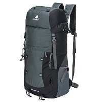 Coreal 40l軽量折りたたみ式バックパックハイキング旅行Packable Daypack ブラック