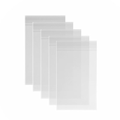 (23cm x 30cm ) - 200ct Clear Cello Bags 9x 12 Adhesive - 1.4 mils Thick Self Sealing Knurling Edges...