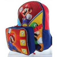 Nintendo Little Boys' Super Mario Backpack with Lunch Box by Nintendo