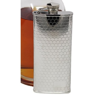 (150ml, Honeycomb Pattern) - Premium 304 (18/8) Food Grade Stainless Steel Hip Alcohol Liquor Flask...