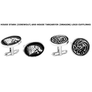 HBO Game of Thrones House Stark and Targaryen Crests ( 2-set )ウェディングGroomsmanカフスボタンW /ギフトボックスby...