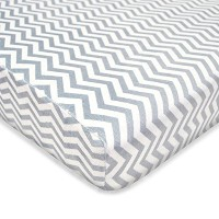 TL Care Heavenly Soft Chenille Fitted Pack 'n Play Playard Sheet, Gray Zigzag by TL Care