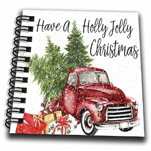 3dローズAnne Marie Baugh–クリスマス–Have A Holly Jolly Christmas Red Truck withクリスマスツリー–Drawing Book...