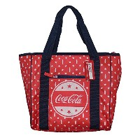 Forever CollectiblesレッドInsulated Coca -クーラーバッグトートバッグwithボトルと星