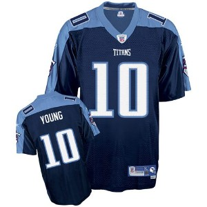 Vince Young Titans Navy Reebok Premier Jersey Maillot