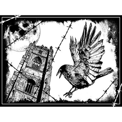 Crafty Individuals Unmounted Rubber Stamp, The Crow by Crafty Individuals [並行輸入品]