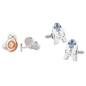 STAR WARS r2d2 and BB - 8ドロイド( 2ペア) Cufflinks w /ギフトボックスby Athena