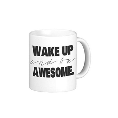 Wake Up And Be Awesome親 11オンス ブラック M-004Blk