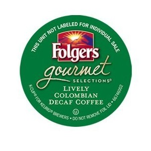 FOLGERS LIVELY COLOMBIAN DECAF COFFEE 48 COUNT by Folgers