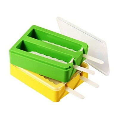 Popsicle Moulds, ULuck Silicone Popsicle Moulds Popsicle Maker Ice Pop Moulds with 2 Lids and...