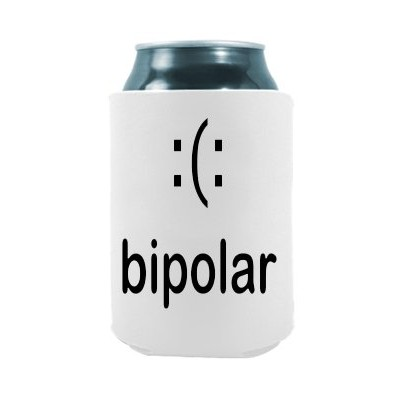 Bipolar Funny Smiley |面白いノベルティCan Cooler Coozie Coolieハギー – のセット2つ( 2 ) |ビール飲料ホルダー – ビールギフトホーム –...