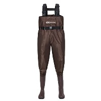 Duck and Fish PVCブラウンChest Wader Cleated Boot足withウエストベルト 11 US