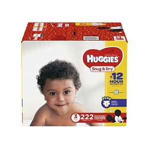 Huggies Snug & Dry Diapers, Size 3, 222 Count (One Month Supply) by Huggies