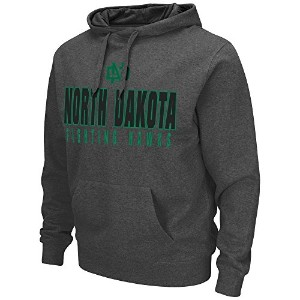 メンズNCAA North Dakota Fighting Hawksプルオーバーパーカー( Heather Charcoal ) M