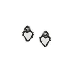 Ugo Cacciatori Ex Voto stud earrings - メタリック