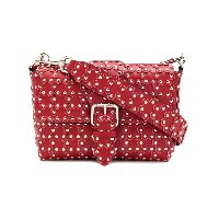 Red Valentino flower studded shoulder bag - レッド