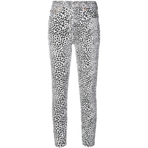 Re/Done high rise cheetah skinny jeans - ホワイト