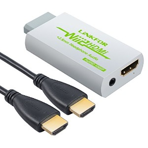 LiNKFOR Wii to HDMI コンバーター Wii to HDMI変換アダプタ WiiをHDMIに変換 1m HDMIケーブル付き(ホワイト)