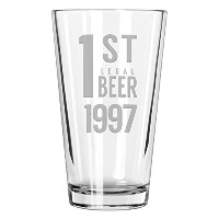 Nationalエッチング1st法的Beer Pint Glass 16オンス