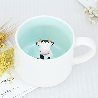 Surprise 3d Cartoonミニチュア動物コーヒーカップマグwith Baby Giraffe Inside – Best Office Cup &クリスマスギフト LE