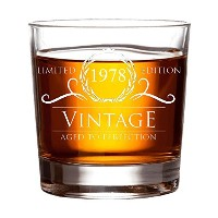 HUHG 197840歳誕生日や記念日WhiskeyガラスVintage Aged to Perfection–Gift for Mom , Dad , GrandmaまたはBest...