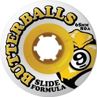 Sector 9 Slide Butterballs 80A 65mm Skateboard Wheels (Set of 4) by Sector 9