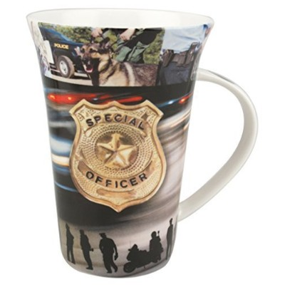Police Officer、to serve and protect Mug in a Matchingギフトボックス6ティーバッグ、バンドル2アイテム