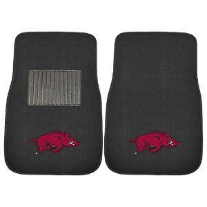 High Quality 17594 Arkansas 2-Piece Embroidered Car Mat