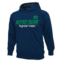 Notre Dame Fighting Irish Pull Over Hooded Sweatshirt Navy XL