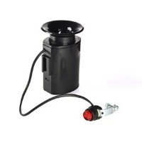 KLOUD Cityテつョ Black cycling bike electronic loud horn siren loudspeaker bell with 6 alarm sounds by...
