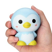 Squishy玩具、9cm Cute Penguin Cartoon香りつきチャームSlow Rising Squeeze Toyチャームby dacawin Da-002012