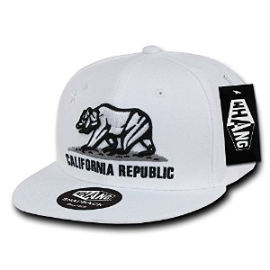 Decky W1-CR-WHT California Republic Snapback Cap, White