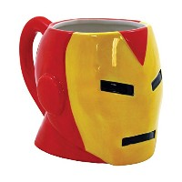 ICUP Marvel 's Comics Iron Man Moldedヘッドセラミックマグ