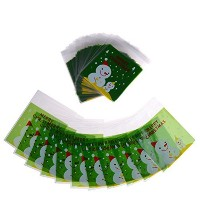 Ligong 100ピース自己粘着セロファンギフトバッグクリスマスOpp Treat Bags for Candy Cookie Biscuits、10by 11cm LIGONG-XMAS...