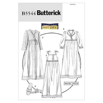 Butterick Patterns B5544 Misses' Nightgown, Robe and Slippers, Size Y (XSM-SML-MED) by BUTTERICK...