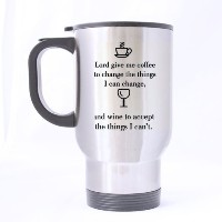 Funny Mug – Lord、Give Me Coffee Things Iを変更するにできます。And Please Give Meワイン – 旅行マグ – Funny Inspirationa...