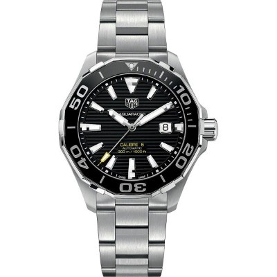 タグ ホイヤー メンズ 腕時計【way201aba0927 aquaracer stainless steel watch】Black