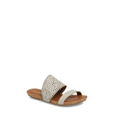 クラブニコ レディース サンダル シューズ Klub Nico Ginette Perforated Slide Sandal (Women) White Leather