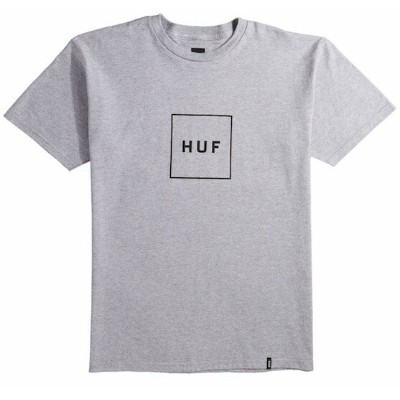 HUF Box Logo T-Shirt Grey Heather L Tシャツ 送料無料