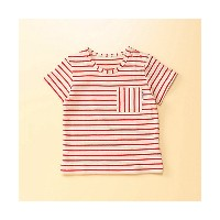 【SALE(伊勢丹)】 COMME CA FOSSETTE/コムサ・フォセット  半袖ボーダーTシャツ(2021TF07) レッド 【三越・伊勢丹/公式】 衣服~~ベビー服