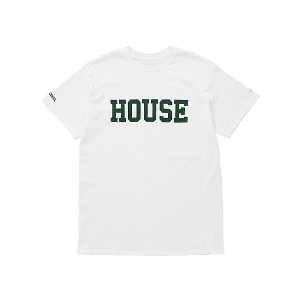 IN THE HOUSE  HOUSE COLLEGE TEE(Men's) ホワイト/グリーン 【三越・伊勢丹/公式】 メンズウエア~~Tシャツ