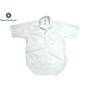 POST OVERALLS(ポストオーバーオールズ)/#1263S C-POST4 S/S PULLOVER OXFORD SHIRTS/white