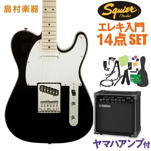 Squier by Fender Affinity Telecaster BLK エレキギター 初心者14点セット 【ヤマハアンプ付き】 テレキャスター 【スクワイヤー / スクワイア】...