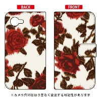 【送料無料】 手帳型スマートフォンケース SINDEE 「Splashed Rose (ベージュ)」 / for AQUOS Xx2 mini 503SH/SoftBank 【SECOND SKIN...