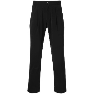 Attachment cropped tailored trousers - ブラック