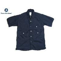 POST OVERALLS(ポストオーバーオールズ)/#1231 S/S TOWN & COUNTRY COTTON BROADCLOTH SHIRTS/navy【父の日】【ギフト】